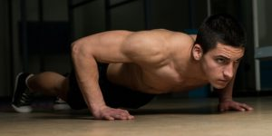 Push-ups for training hand strength